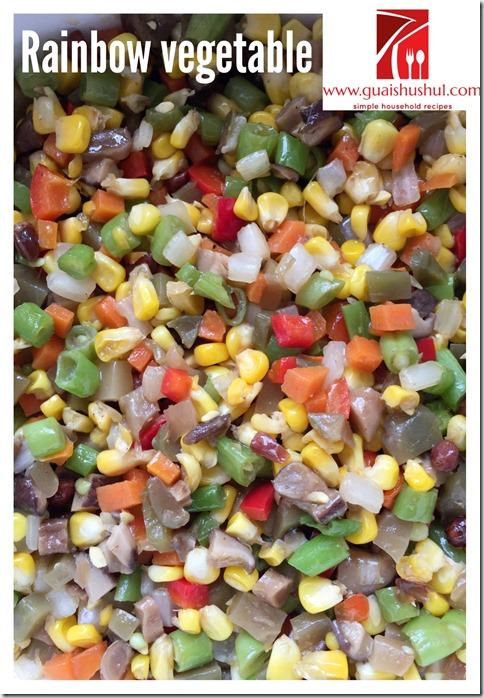 Rainbow Vegetable Cubes (炒粒粒 aka 炒菜丁)
