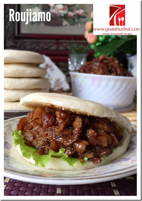 Chinese Pull Pork Hamburger aka Roujiamo (陕西肉夹馍)