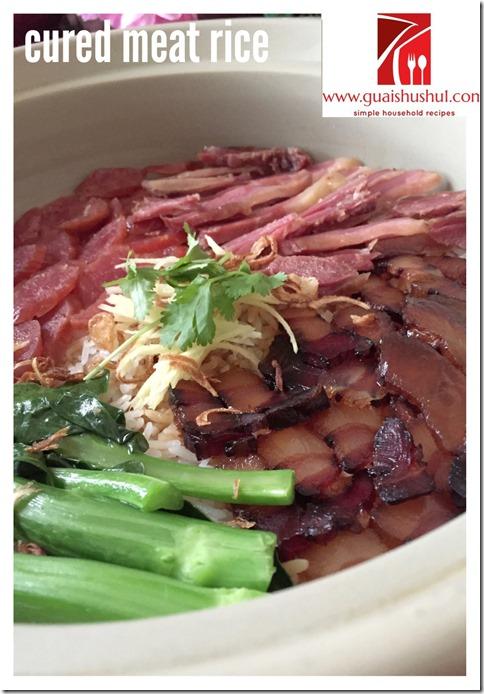 Chinese Cured Meat Rice aka Lup Mei Fan (粤式瓦煲腊味饭)