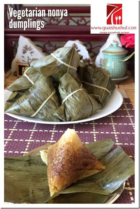 Vegetarian Nonya Rice Dumpling (娘惹素粽)