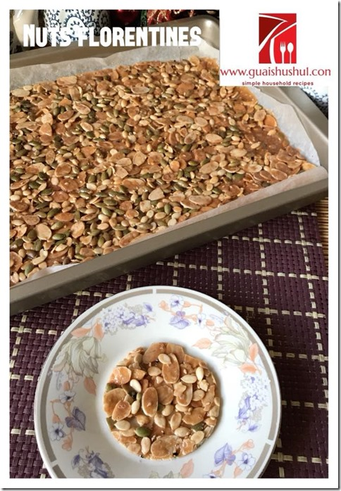 Chinese New Year Recipes–Mixed Nuts Florentine (杂果仁脆片)