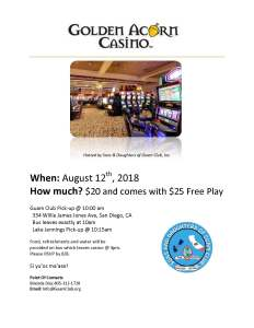 Golden Acorn Casino Fundraiser