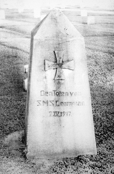The SMS Cormoran Monument located in the Hagatna US Naval Cemetery, 1950.