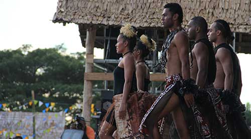 Performance by Fiji Delegates at the Solomon Islands FestPac 2012. Photo by Ron J. Castro.