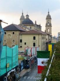 Back of the Catedral Primada de Colombia.