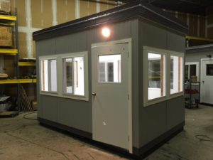 8 x 12 Guard Booth-Plan B-Door on 12 side