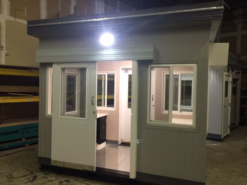 6 x 10 Guard Booth with Two Sliding Doors