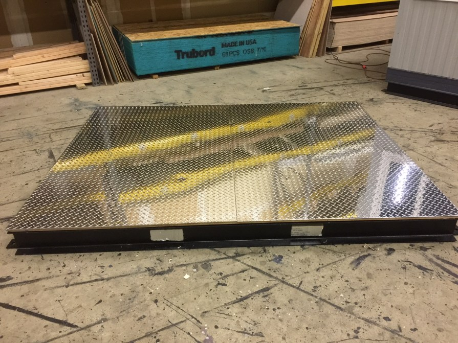 Guard Booth-Steel Base Frame with Fork-Lift Pockets-Aluminum Floor