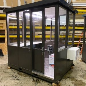 Guard Shack 6 x 8 Sliding Door Bronze