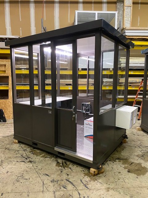 6 x 8 Guard Booth Sliding Door Bronze