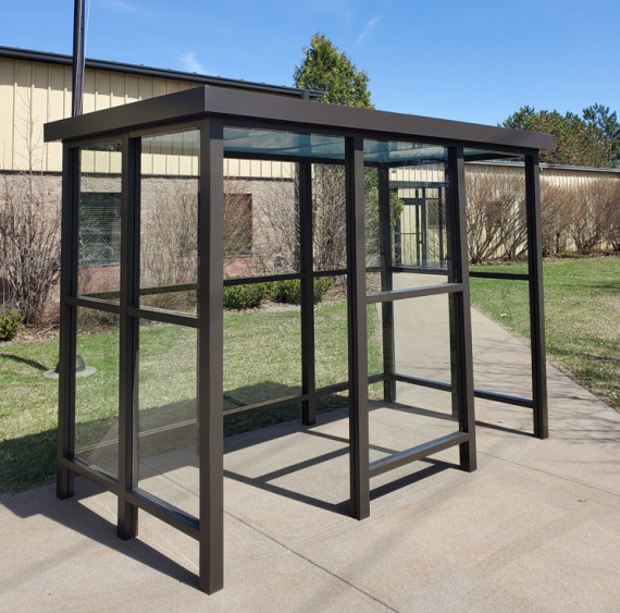 5 x 10 Bus Stop Shelter 2 Opening