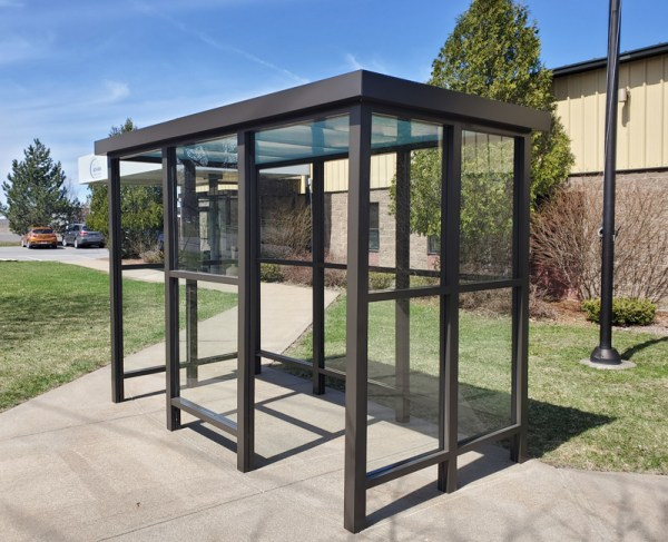 8 x 15 Bus Stop Shelter 2 Opening