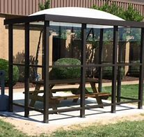 5 x 10 Bus Stop Shelter Dome 2 Opening