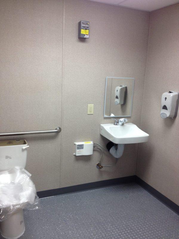 8 x 14 Guard House ADA Restroom-Interior