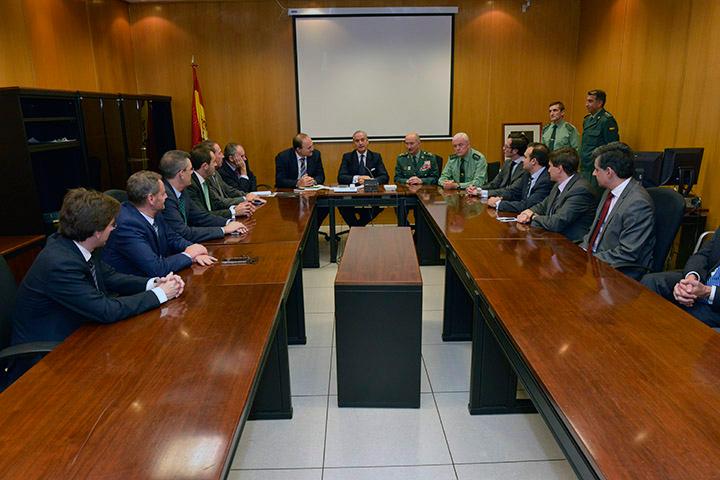 La Guardia Civil se reúne con el Comité Directivo de Prosegur