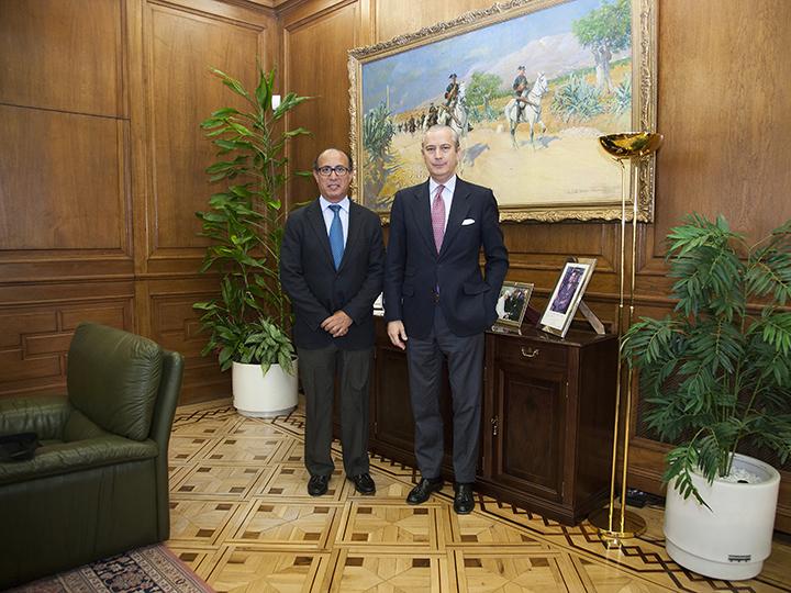 El Director General recibe en audiencia al Delegado del Gobierno en Melilla