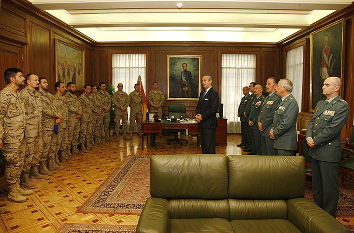 El Director General de la Guardia Civil despide al nuevo contingente que se desplegará en Afganistán