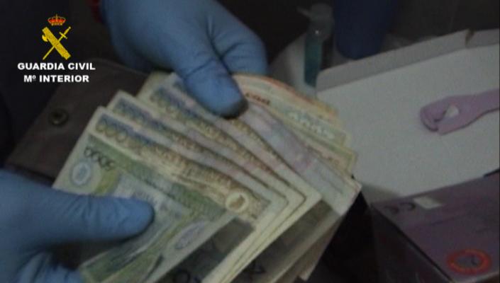 La Guardia Civil desarticula una organización  dedicada al tráfico de cocaína