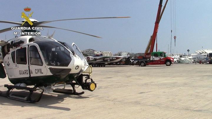 La Guardia Civil lleva a cabo la seguridad en el campeonato del mundo de Motonáutica Class 1