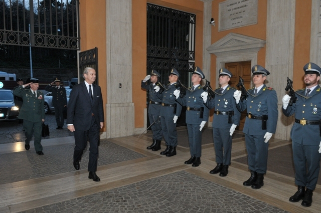 Director General de la Guardia Civil se reúne en Roma con el Comandante General de la Guardia di Finanza italiana
