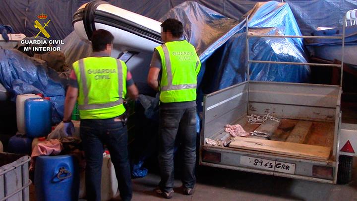 Desarticulada una organización que introducía hachís en embarcaciones desde Marruecos, utilizando narco embarcaderos del Campo de Gibraltar