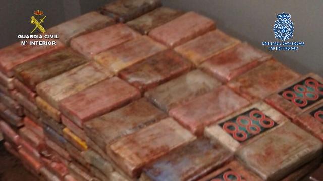 Incautada cerca de media tonelada de cocaína procedente de Colombia que iba a ser distribuida por Europa