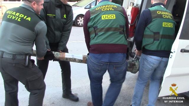 La Guardia Civil interviene gran cantidad de bienes arqueológicos expoliados en yacimientos terrestres y subacuáticos