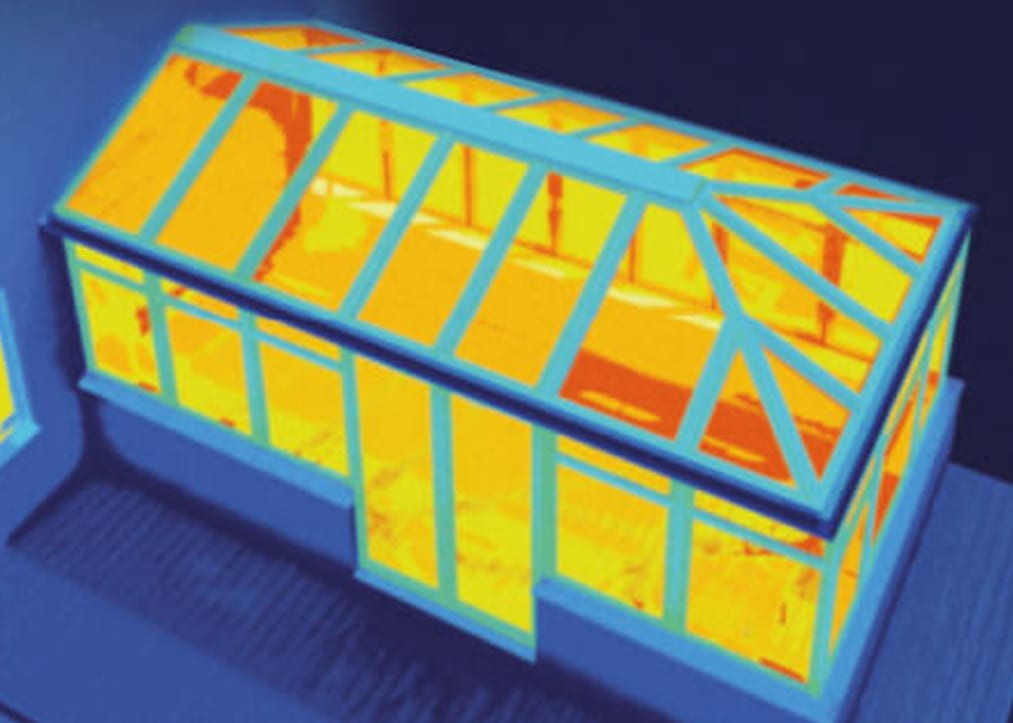 Thermally inefficient conservatory roof
