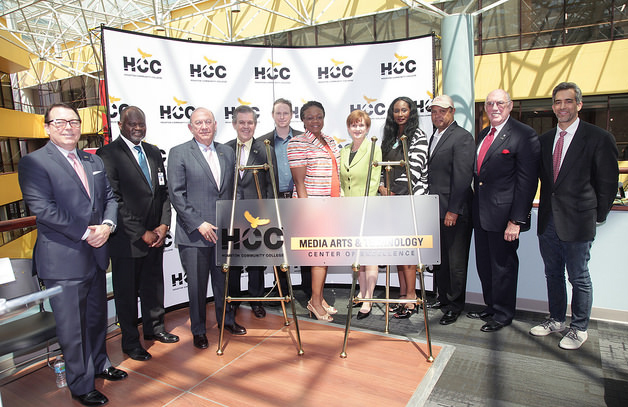 Spotlight on success. Houston Community College celebrates the grand opening of the HCC Media Arts and Technology Center of Excellence at the Alief-Hayes Campus.