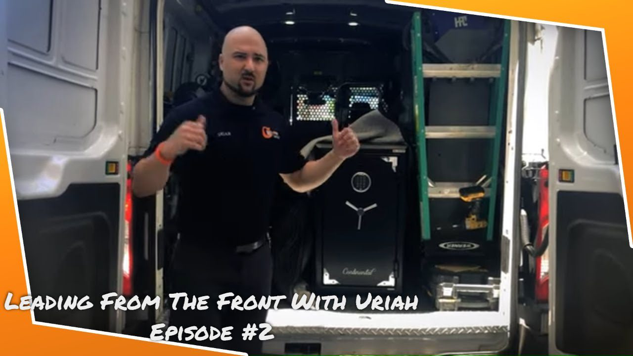 Delivering Safes and Bolting Them Down | Leading From The Front With Uriah | Episode #2