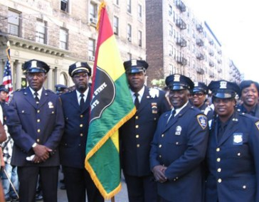 Members of the Guardians Association of the NYS Courts marching at the 2005 African-American Day Parade.