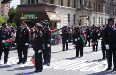 Members of the Guardians Association of the NYS Courts marching at the 2007 African-American Day Parade.