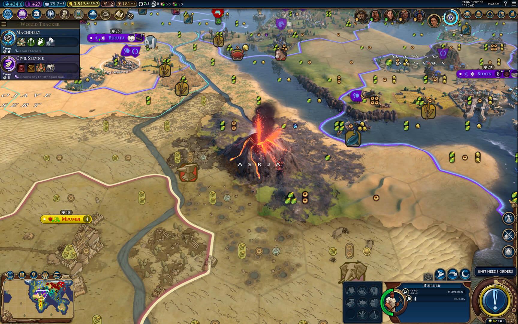 Civilization VI Gathering Storm Vulcão