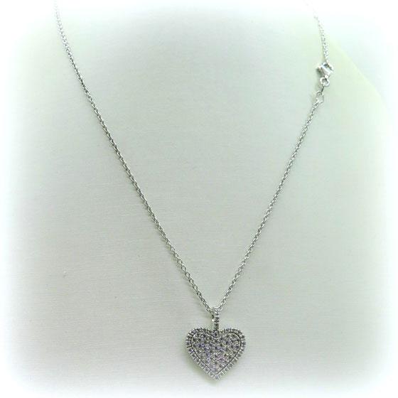 Collana ciondolo cuore artigianale in argento 925