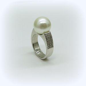 Anello perla in argento 925