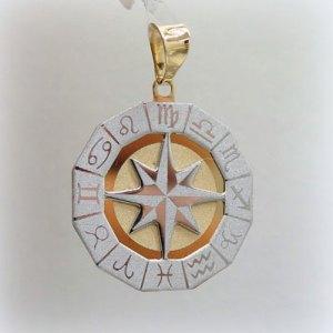 Ciondolo uomo segni zodiacali in oro giallo 18 ct