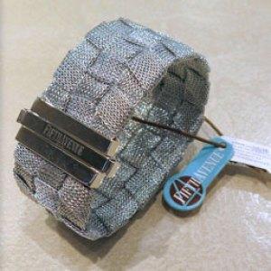 Bracciale tessuto lurex e argento 925 fifth avenue