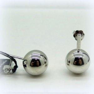 Orecchini pendenti sfera in argento 925 rodiato Diva Gioielli