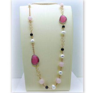 Collana lunga donna Sovrani byjoux con perle