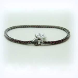 Bracciale tennis pietre rosse in argento 925