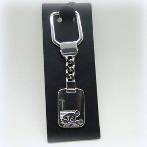 Portachiavi in argento 925 ciclista