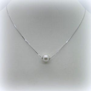 Collana in argento 925 e perla Fraboso Argento