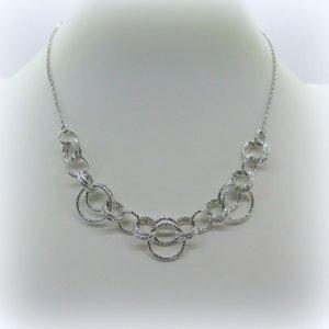 Collana Fraboso argento 925 diamantata