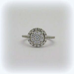 ANELLO DONNA PAVE' IN ARGENTO 925