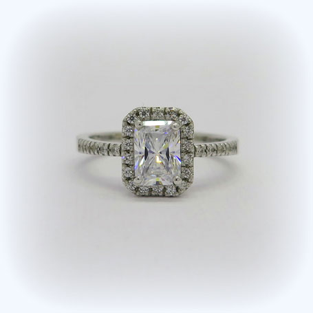 Anello artigianale argento 925 zirconi