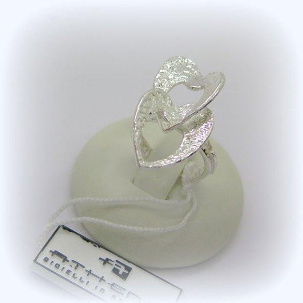 Anello cuori in Argento 925 Athena Gioielli