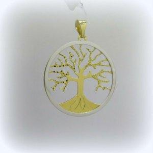 Ciondolo albero della vita in oro 18 ct