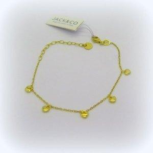 Bracciale cuori placcato oro giallo in argento 925
