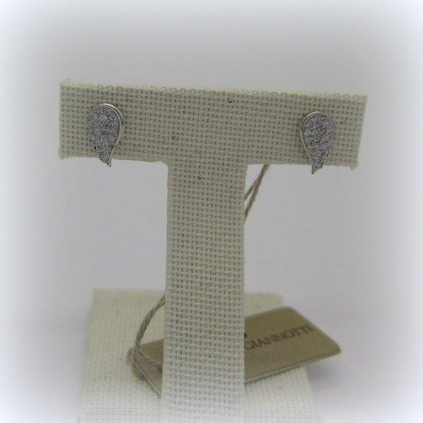 Orecchini ala in argento Giannotti