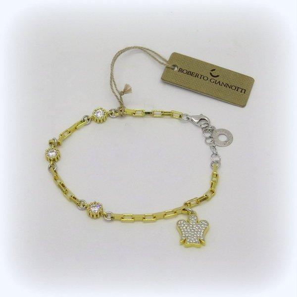 Bracciale donna bicolore angelo in argento 925 Giannotti